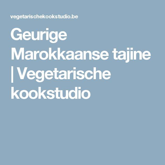 Geurige Marokkaanse tajine | Vegetarische kookstudio