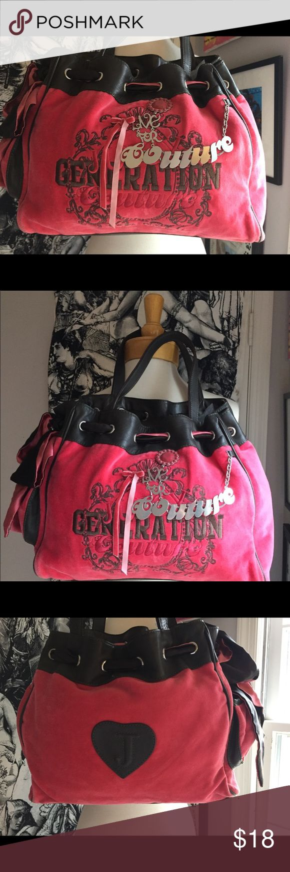 """Juicy Couture Daydreamer Generation Bag PRICE IS FIRM!!   100% authentic. Excellent condition. Minimal wear. Outside Silver-tone detailing """"LIVE FOR COUTURE"""" Juicy Couture Bags Satchels"""