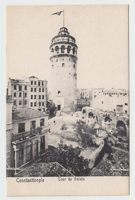 The Galata Tower built in 1348 by the Genoese.