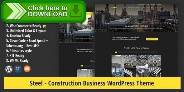 [ThemeForest]Free nulled download STEEL - Construction Business WordPress Theme from http://zippyfile.download/f.php?id=31610 Tags: construction, constructor, contractor, corporate, essential grid, industry, steel architecture, steel building, steel company, steel theme