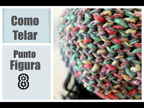 PUNTADO Figura 8 en Telar Redondo - Figure 8 Stitch in Spanish - YouTube