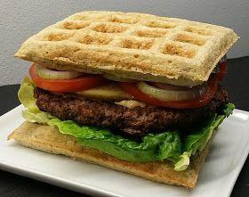 Burger med butterbeanvafler   klidfaster.dk