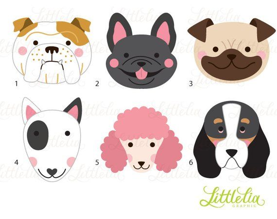 Dog Head Clipart Dog Face Clipart 16070 Etsy In 2020 Dog Crafts Clip Art Dog Face