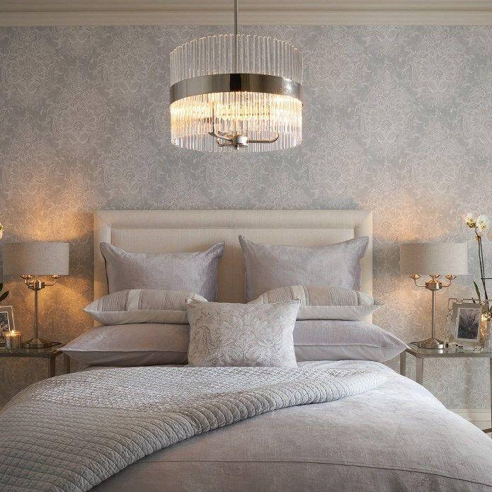 18 laura ashley maddox silver floral wallpaper casa for Bedroom ideas laura ashley