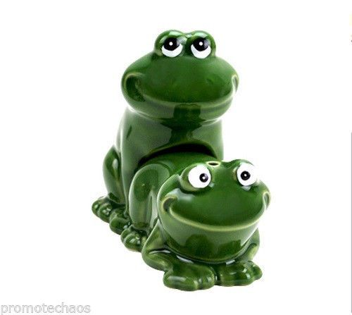 Froggy Style Salt Pepper Shaker Set Frog Cerami