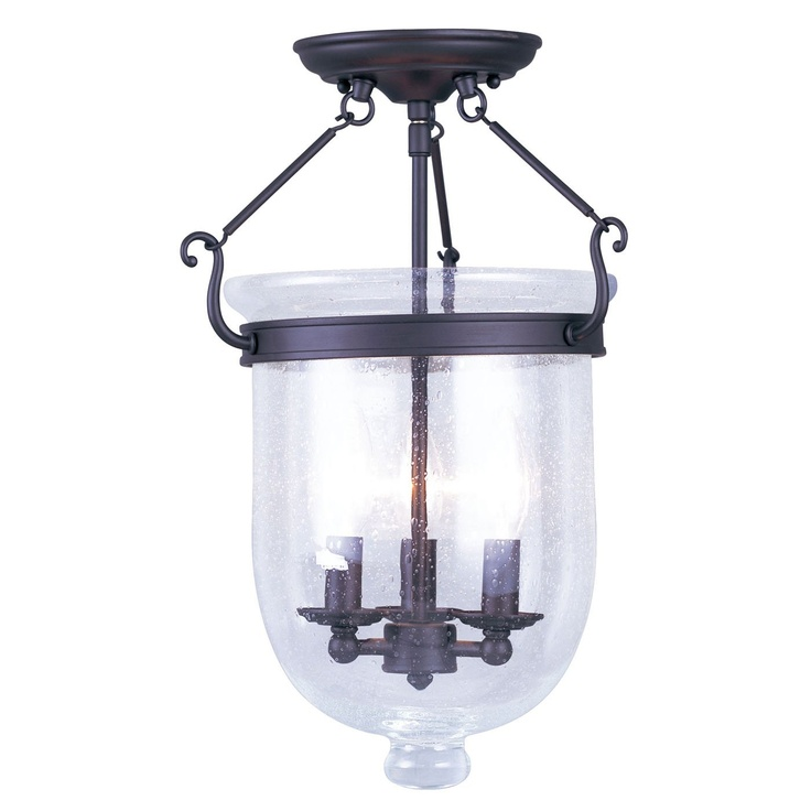 bell jar lighting fixtures. shop livex lighting jefferson semi flush ceiling light at loweu0027s canada find our selection of lights the lowest price guaranteed with bell jar fixtures r