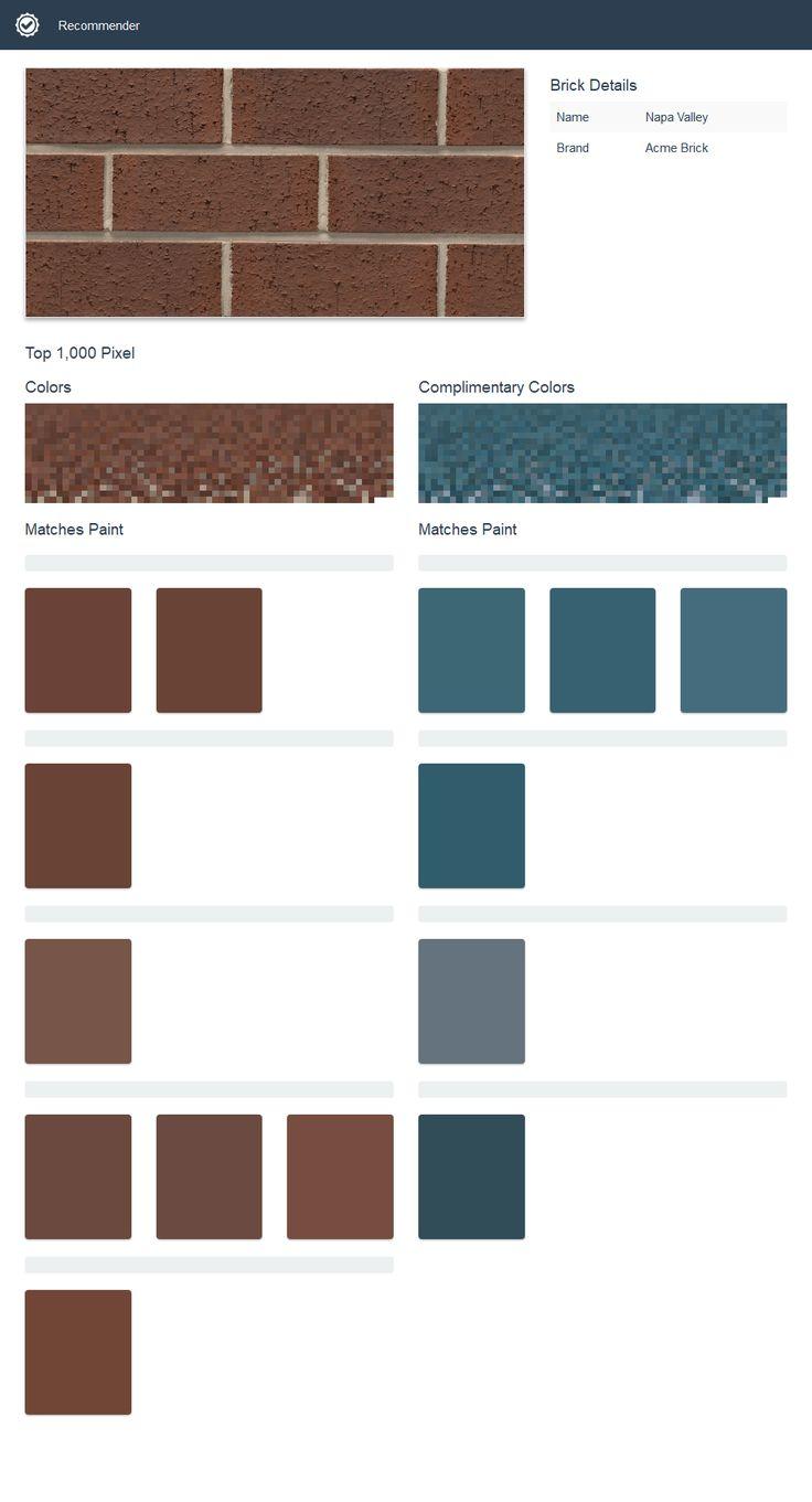 как подобрать краску под цвет кирпича