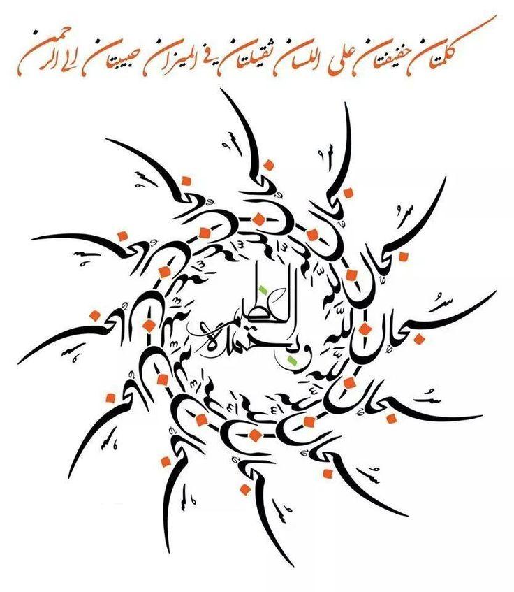 (Ben Allah'ı noksan sıfatlardan tenzih eder, O'na hamdederim. Ben Yüce olan Allah'ı noksan sıfatlardan tenzih ederim) ............ Buhârî, Deavât 65