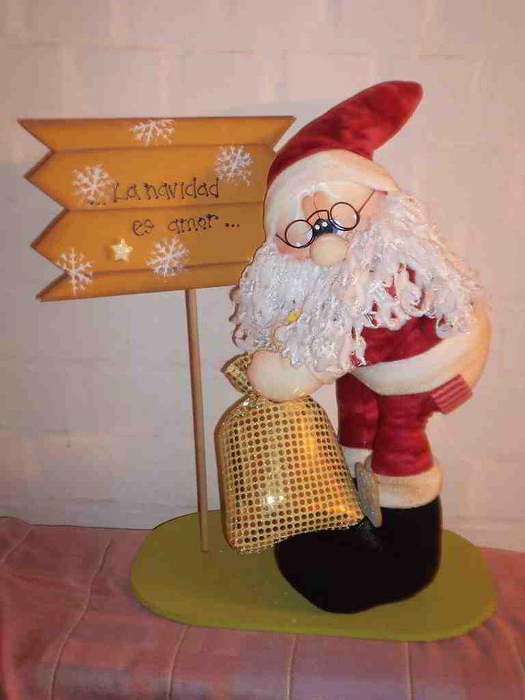 Papa Noel mostrando trasero