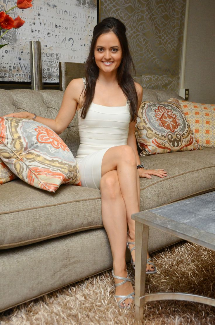Danica McKellar. Furniture provided by Eastern Furniture featured on Dancing With The Starts! #DWTS Image via Social Hill, LLC and/or Celebrity Black Card, LLC