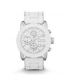 Diesel Damen Armbanduhr Weiß Silber Chronograph DZ5306