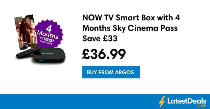 NOW TV Smart Box with 4 Months Sky Cinema Pass Save £33, £36.99 at Argos
