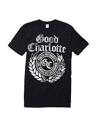 Good Charlotte Youth Authority Logo T-Shirt, BLACK