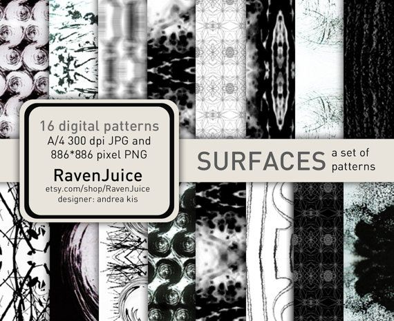 Surfaces abstract pattern set printable digital by RavenJuice
