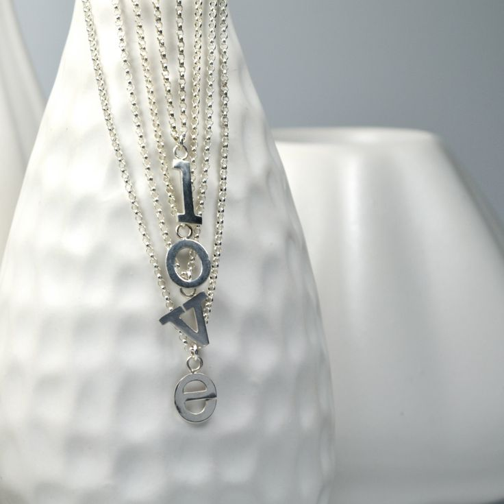 Choose Your Letter, Custom Sterling Silver Initial Letter Necklace by TrishaFlanagan on Etsy https://www.etsy.com/ca/listing/170250136/choose-your-letter-custom-sterling