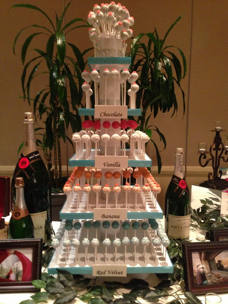 Wedding Cake Pop Tower
