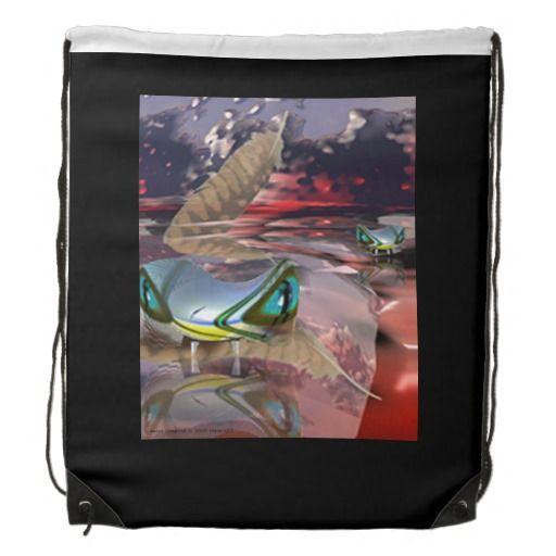 Water Demon Drawstring Backpack : Grayson Art