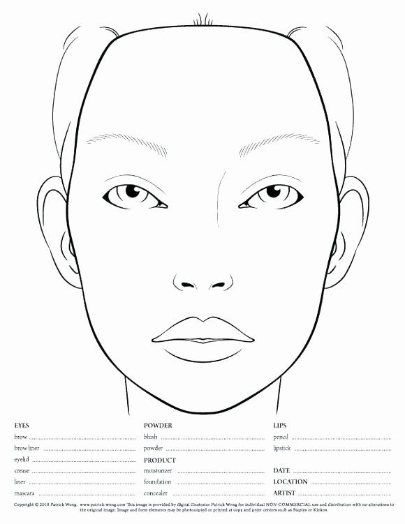 Blank Face Coloring Page Best Of Blank Face To Color Free Coloring Library Makeup Face Charts Face Chart Mac Face Charts