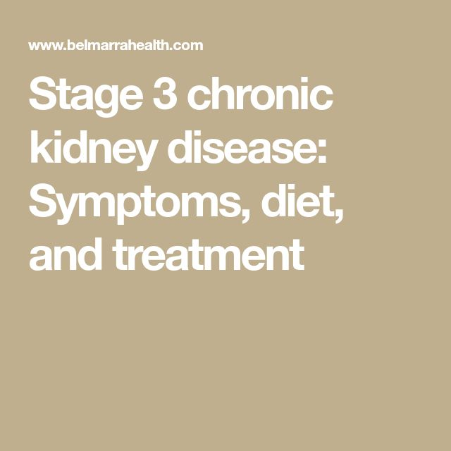 Diet Changes by Stage of Chronic Kidney Disease