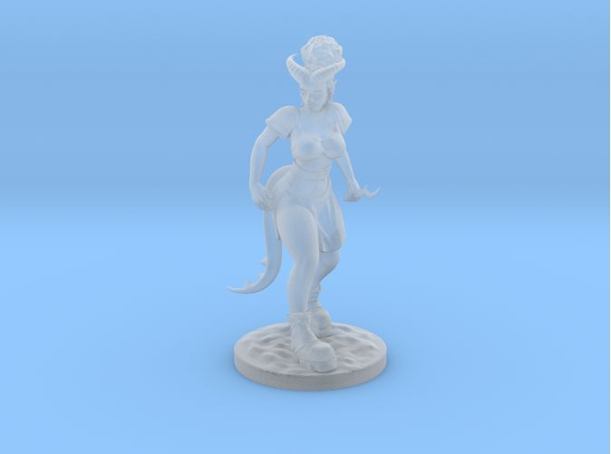 Check out Dnd Tiefling Miniature by timidclover on Shapeways and discover more 3D printed products in Tabletop & Wargaming.
