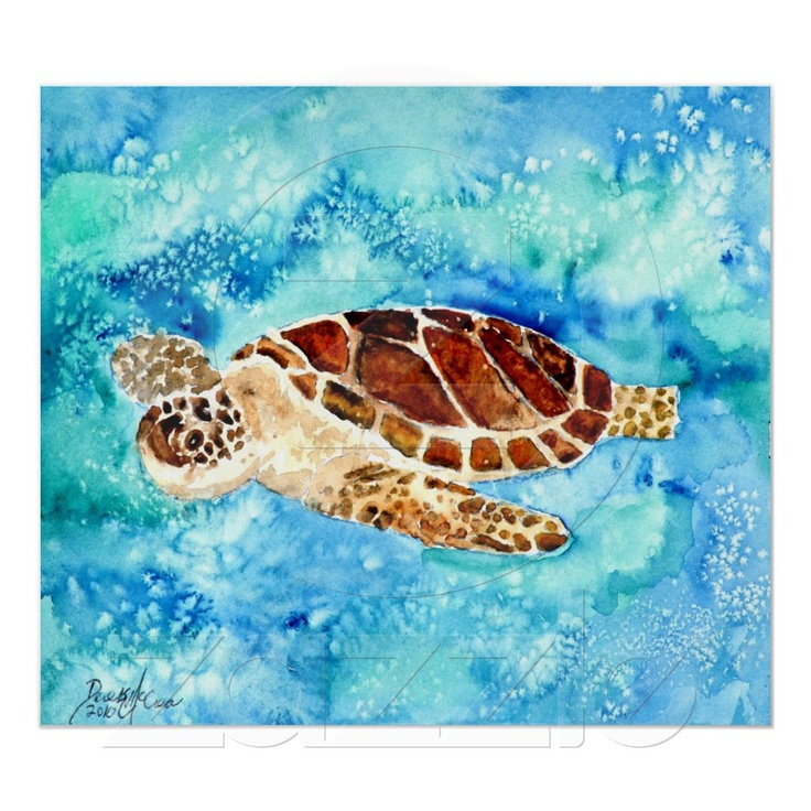 17 best images about sea turtle paintings on pinterest for Sea life paintings artists