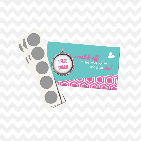 scratch off coupon discount reward cards origami owl