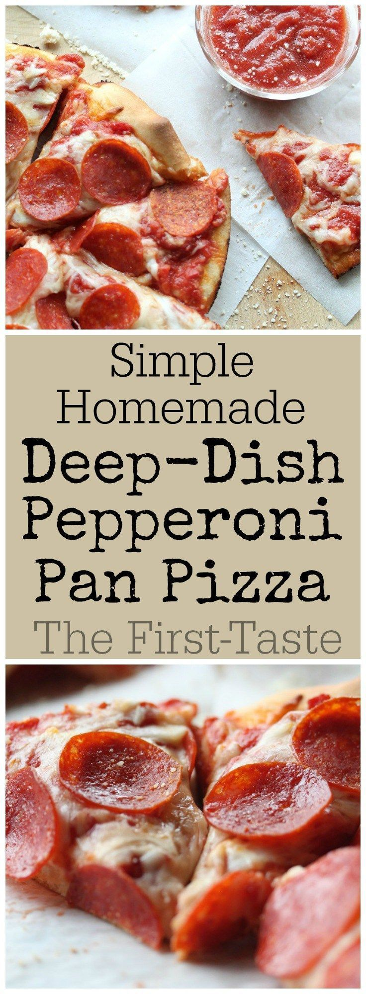 Simple Homemade Deep-Dish Pepperoni Pan Pizza - this looks like Pizza Hut pan pizza!