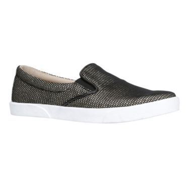 Your casual looks shine in our comfortable metallic slip-on shoes, featuring elastic gores. They are perfect with just about anything!