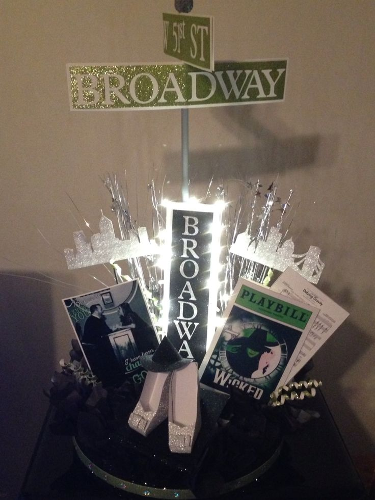 Broadway theme Bridal Shower Centerpiece