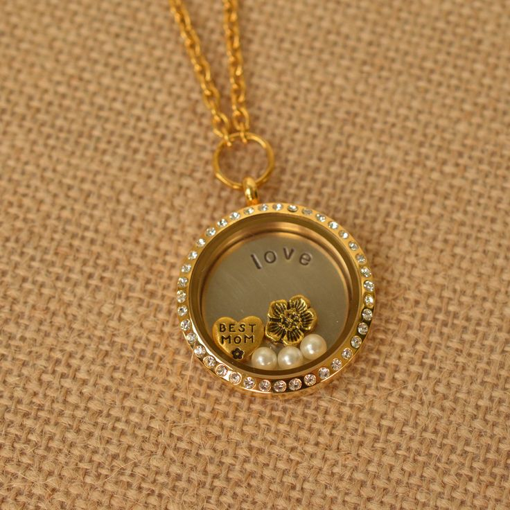 Gold memory locket for a special mom :)