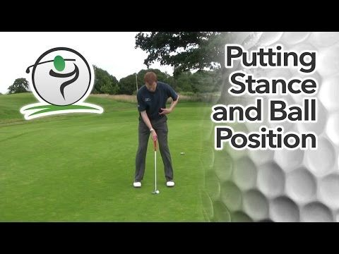 After we've checked for good alignment, the next fundamental is our putting stance…  In the video lesson below, we'll look at width of stance, ball position in the stance and the position of the hands.  I also make reference to the length of your putter. I see a lot of club golfers that have putters that are too long for them.