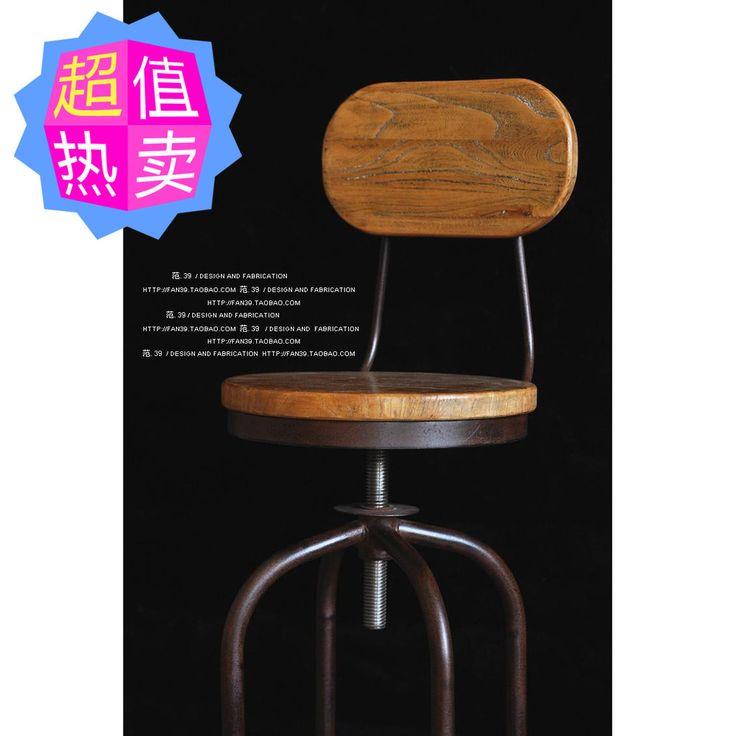 fujian directe amerikaanse rustieke meubels terug naar het oude smeedijzeren barkrukken hout roterende lift stoel bar stoel in Item details:grootte:lange 40x 40x hoge 70cm breed de zitting van de stoel diameter 33cmZithoogte: 70cm ~ 88cm kan tille van barkrukken op AliExpress.com | Alibaba Groep