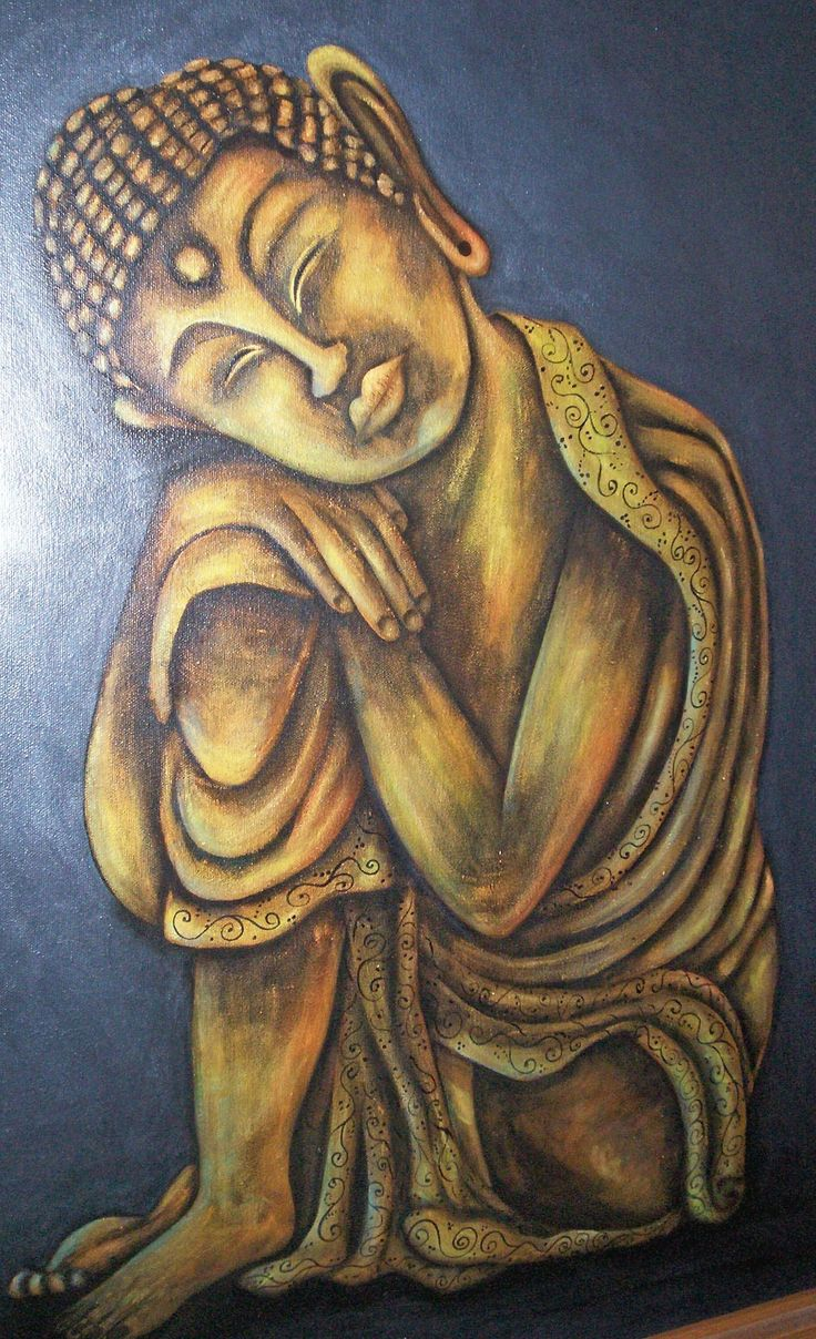 The Sleeping Buddha, painted onto a large canvas 2008