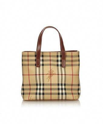 8a278e553927 BURBERRY PRE-OWNED  PLAID HANDBAG.  burberry  bags  leather  pvc ...