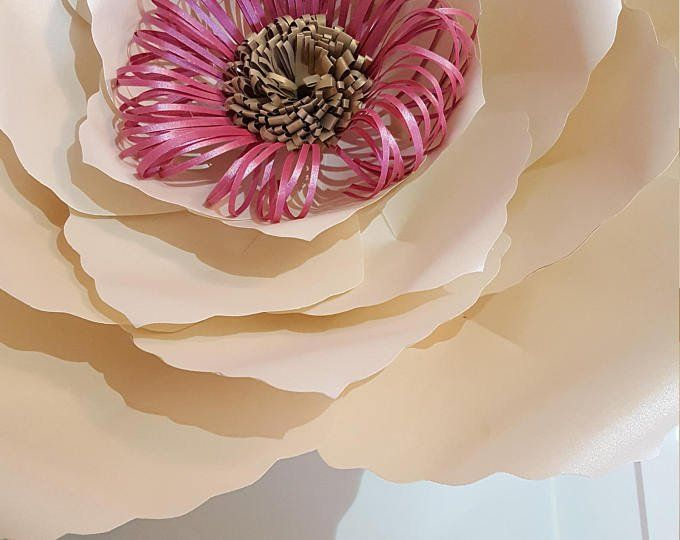 Paper Flower Template PDF and SVg digital files and SVG file for loopy centre #1 as on photo