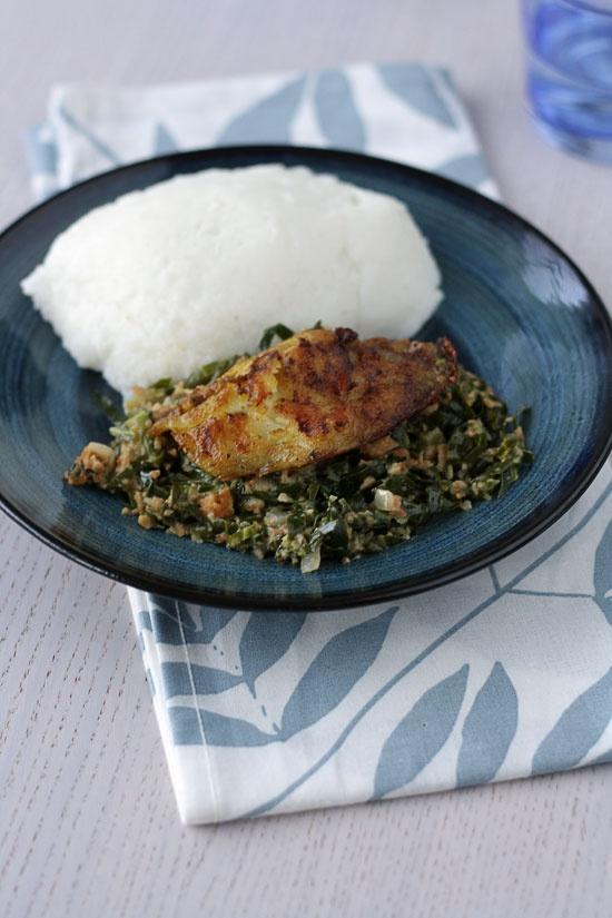 Curried fish, Ifishasi and Nshima - Zambia