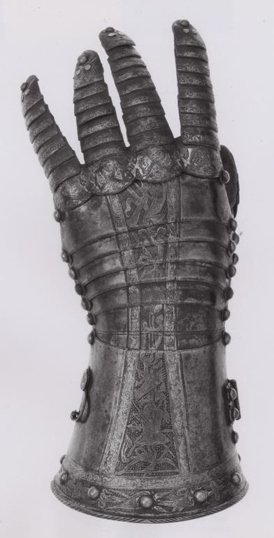Anton Peffenhauser, probably German, Augsburg Fingered Gauntlet for the Left Hand, c.