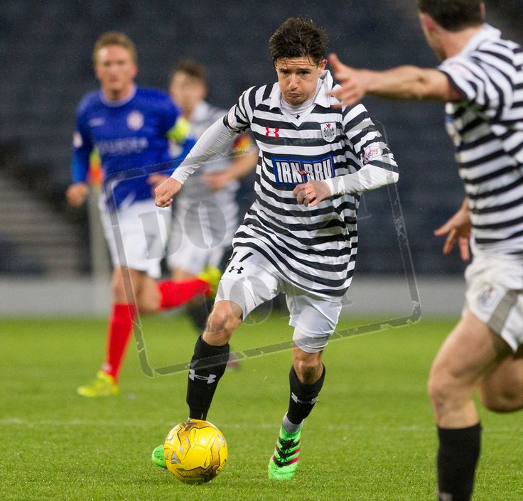 Queen's Park's Paul Woods on the ball during the SPFL League One play off game between Queen's Park and Cowdenbeath.