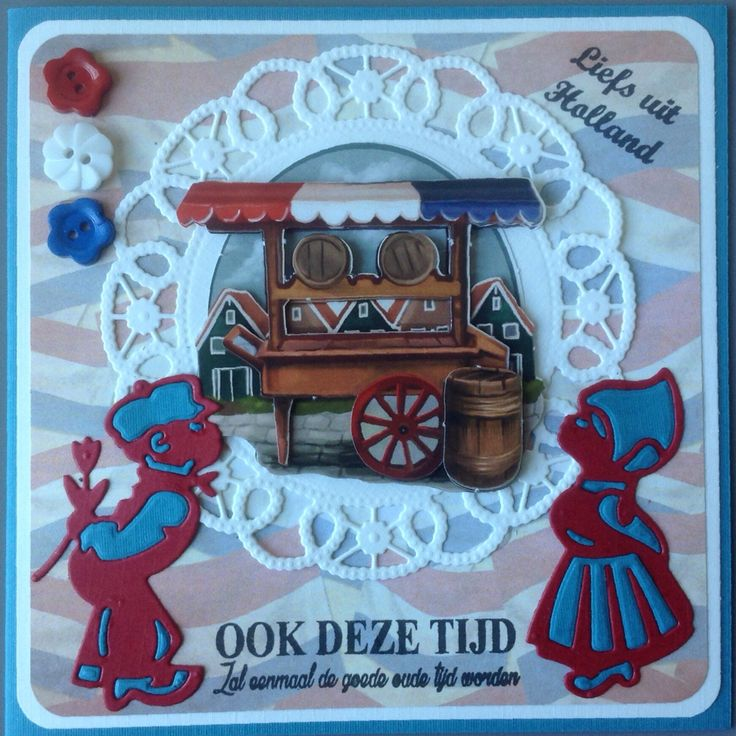 Nederlands stelletje met haringkar van Amy Design Oud Hollands