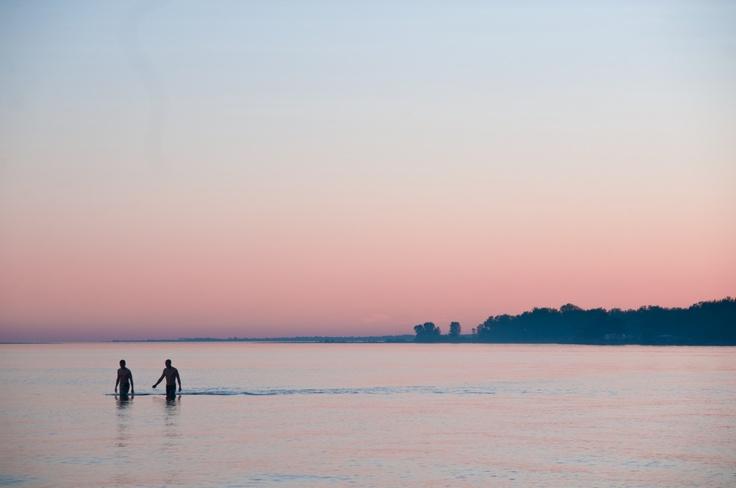 Sunset on Lake Ontario, Presqu'ile Provincial Park, Ontario, Canada