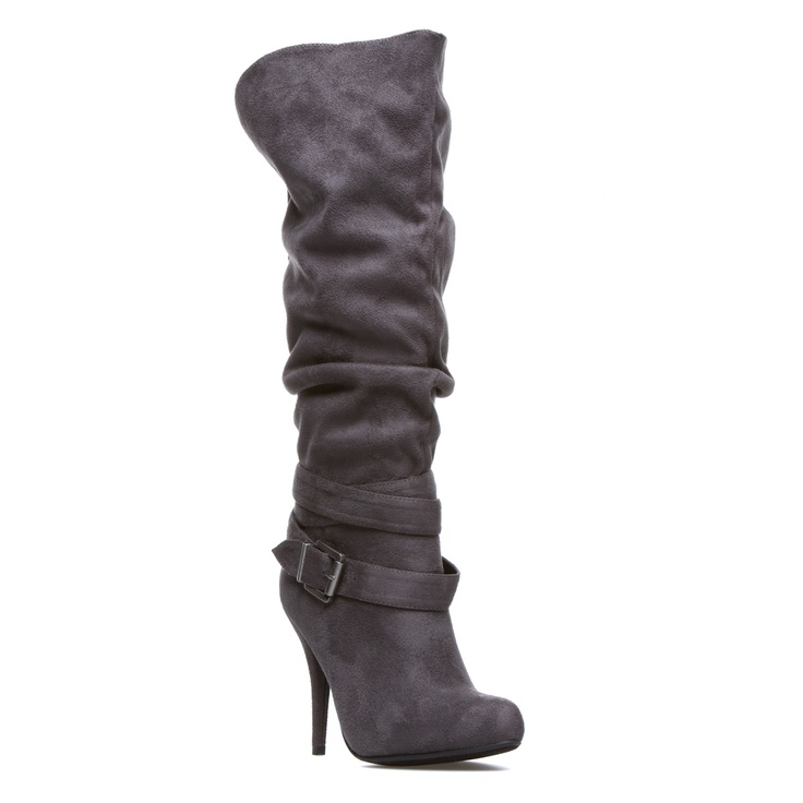 Grey slouchy boots with buckle. $39 BUY ONE GET ONE FREE