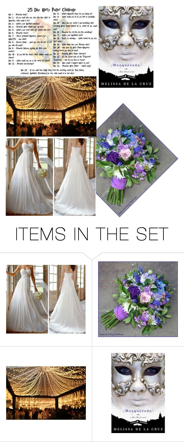 """""""Day 11: my wedding"""" by stella-de-luna-fashion ❤ liked on Polyvore featuring art"""