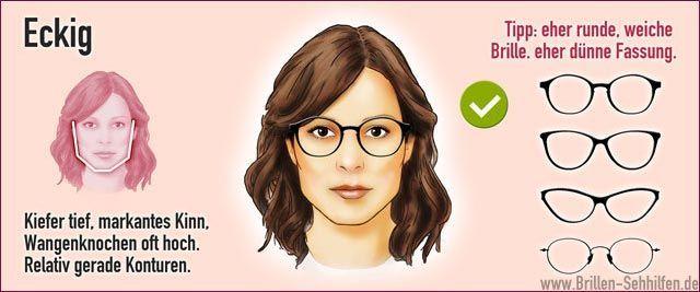 Eeckiges Gesicht Mit Brille Beauty Hacks Hair Styles Beauty