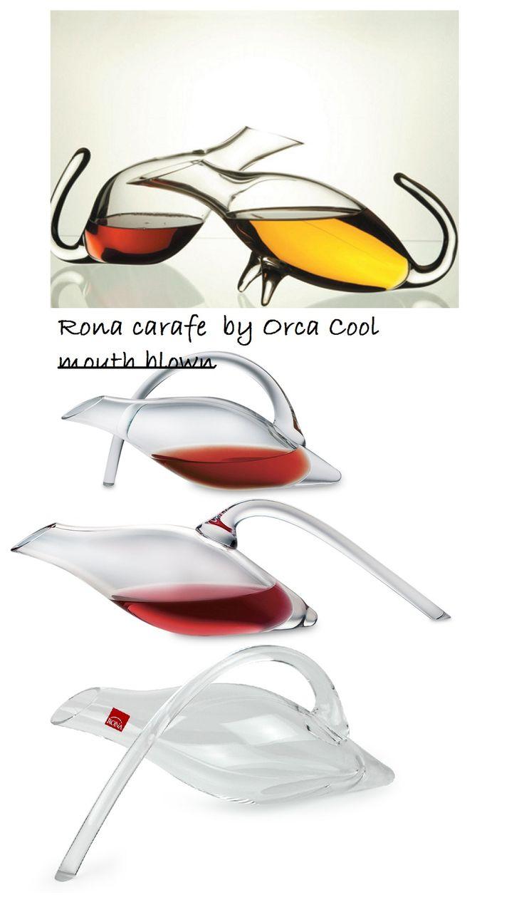 Prachtige mond geblazen Karaffen. Beautiful mouth blown decanters. #karaf #wijn #Carafe #wine #OrcaCool