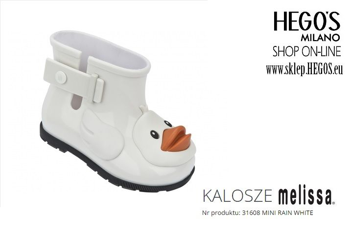 Mini Melissa - white wellingtons Autumn/Winter 15/16 Collection HEGO'S