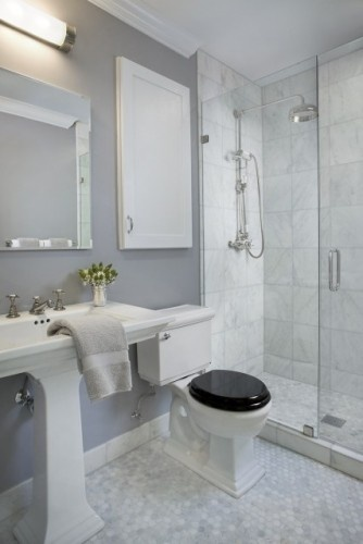 The paint color is silver dollar 1460 by benjamin moore in Best paint finish for bathroom