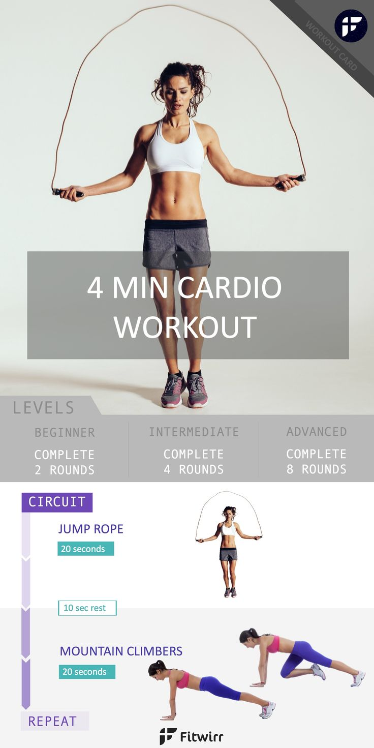 Cardio doesn't just mean running. Cardio is anything that gets your heart rate up. Why not combine both strength workout and aerobic workout to get the most of your cardio routine? Do this 4 minute tabata workout to burn calories and tone up your full body. #weightlossmotivation