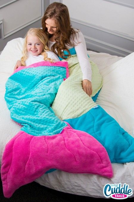 Fin Fun Mermaid Tail Blanket for Adults in Aquamarine. Perfect gift for Easter! #finfun #mermaids #cuddletail