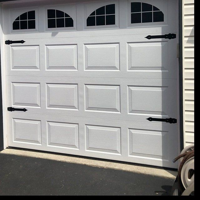 Carriage House Style Vinyl Garage Door Decal Kit Faux Windows Etsy White Garage Doors Garage Doors Faux Garage Door Windows