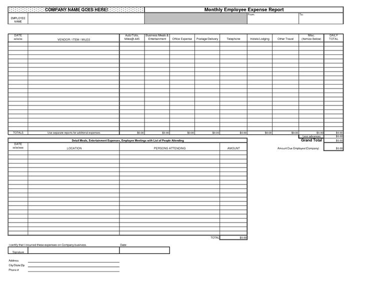 Best Photos Monthly Expense Report Excel Business Calculating The   Examples  Of Expense Reports  Examples Of Expense Reports